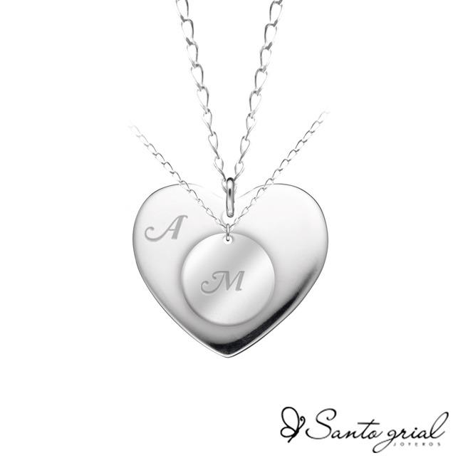 7194d5e16daa Productos personalizados   Dijes corazón-moneda parejas